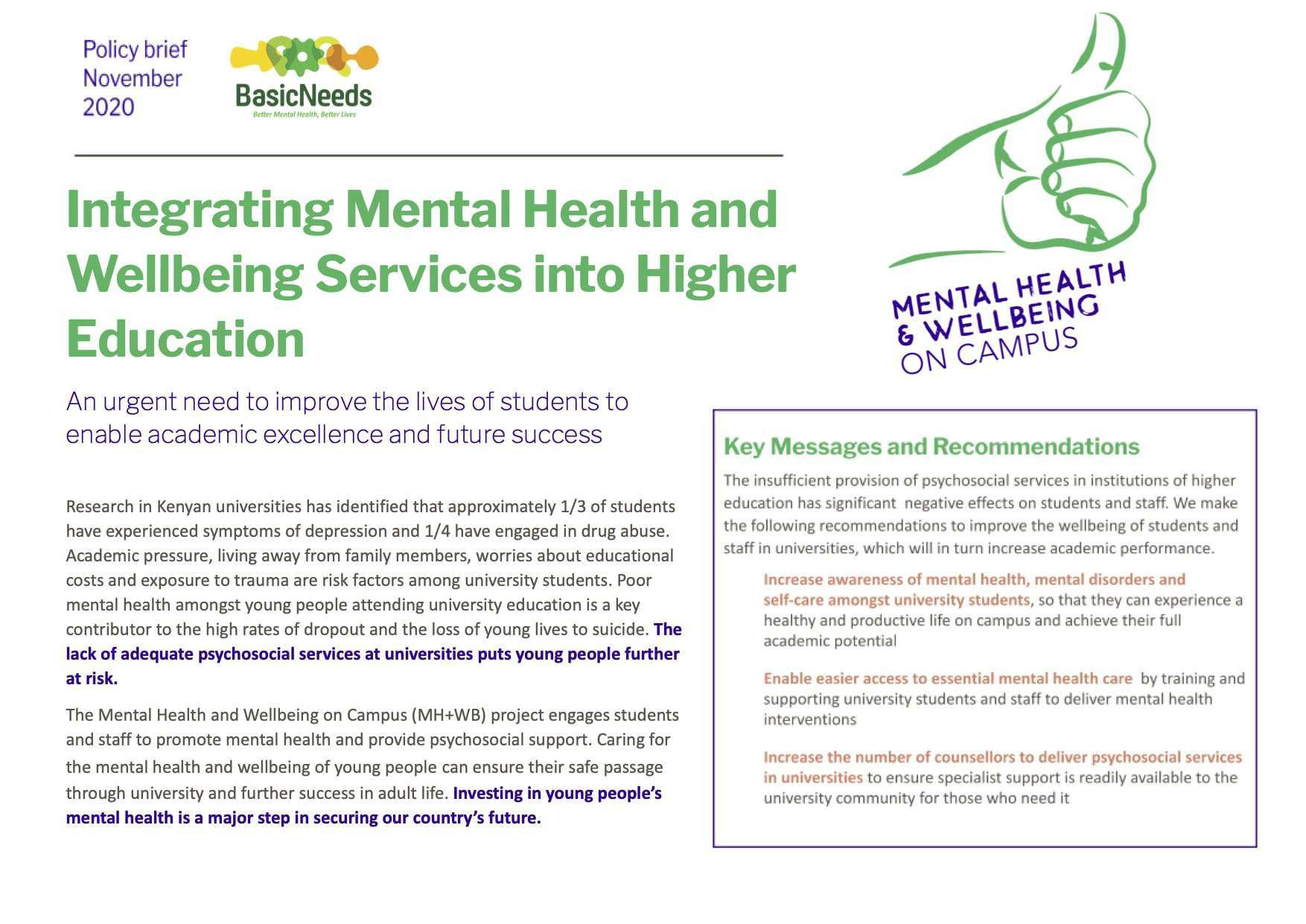 MH+WB policy brief